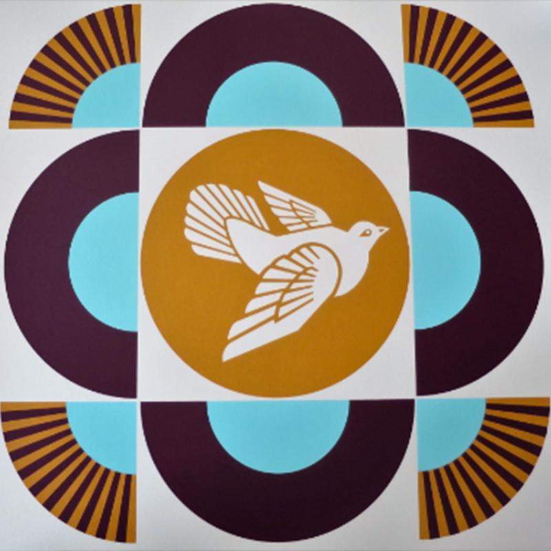 Dove géométric Natural blanc (Shepard Fairey - Obey)