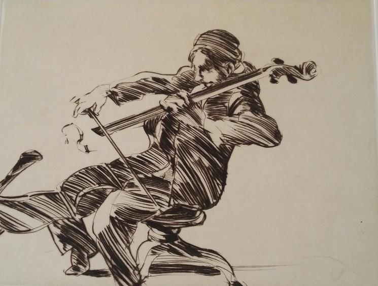 Le soliste au violoncelle (Claude Weisbuch)