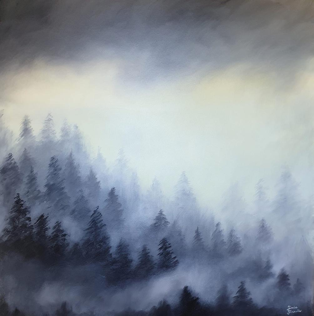 Forêt dans la brume Jessica Fleurentin